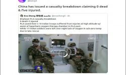 Old Clip Shared As PLA Giving Hyberbaric Oxygen Therapy To Indian Troops